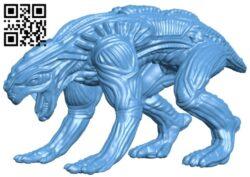 Alien Animal B008778 file obj free download 3D Model for CNC and 3d printer