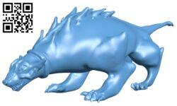 Alien dog B008782 file obj free download 3D Model for CNC and 3d printer