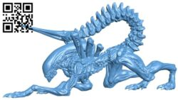 Alien xenomorph B008772 file obj free download 3D Model for CNC and 3d printer
