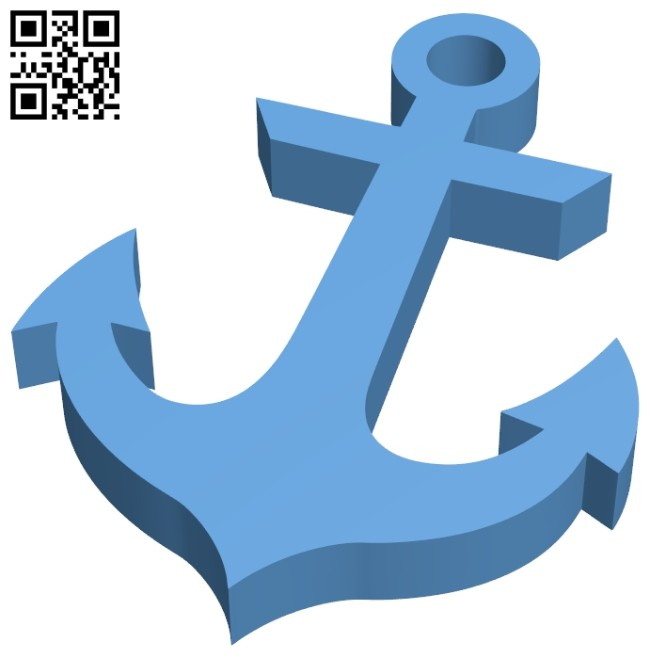 Anchor B008798 file obj free download 3D Model for CNC and 3d printer