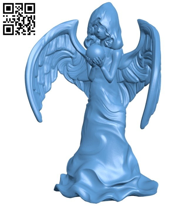 Angel statue B008753 file obj free download 3D Model for CNC and 3d printer