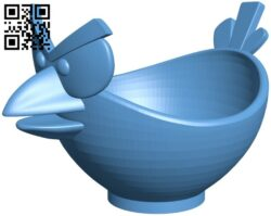 Angry bird egg cup B008879 file obj free download 3D Model for CNC and 3d printer