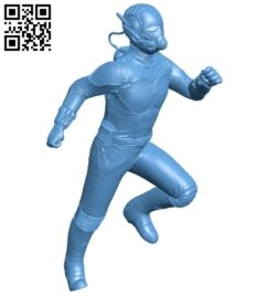 Ant man – superhero B008916 file obj free download 3D Model for CNC and 3d printer