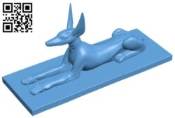 Anubis B008740 file obj free download 3D Model for CNC and 3d printer