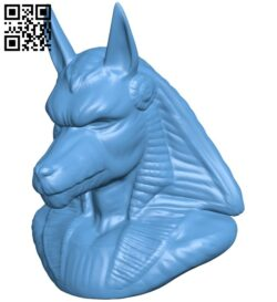 Anubis bust B008900 file obj free download 3D Model for CNC and 3d printer