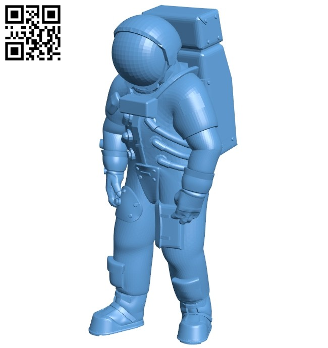 Apollo astronaut B008734 file obj free download 3D Model for CNC and 3d printer