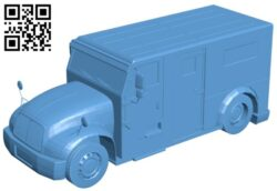 Bank truck B008681 file stl free download 3D Model for CNC and 3d printer
