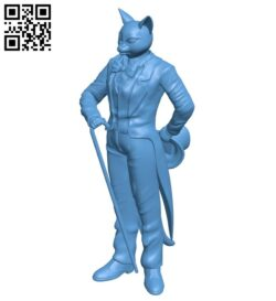 Baron Humbert von Gikkingen – Whisper of the Heart – cat B008741 file obj free download 3D Model for CNC and 3d printer