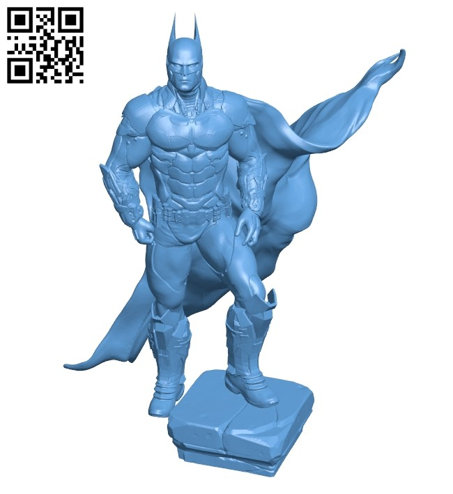 Batman with cape - superman B008724 file obj free download 3D Model for CNC and 3d printer