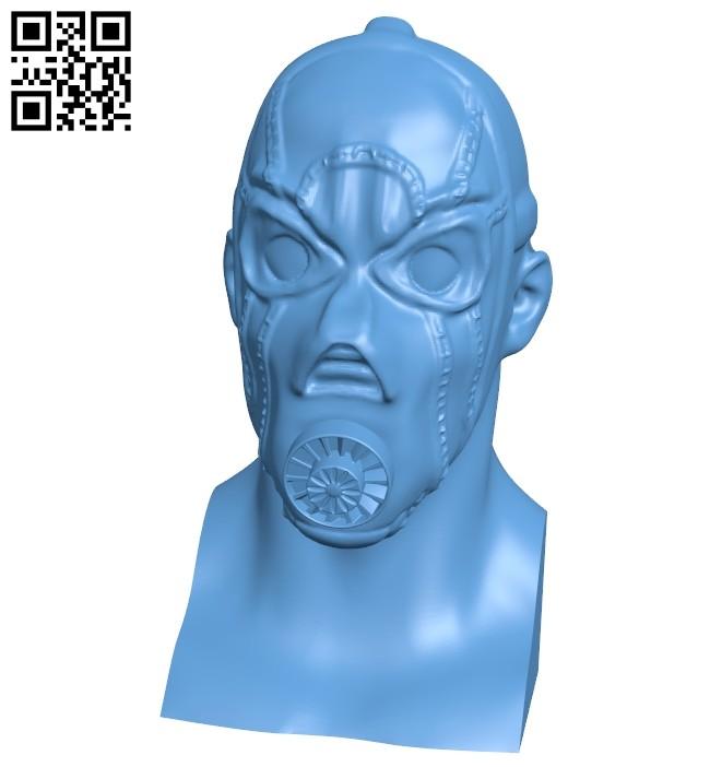 Borderlands psycho bust B008767 file obj free download 3D Model for CNC and 3d printer
