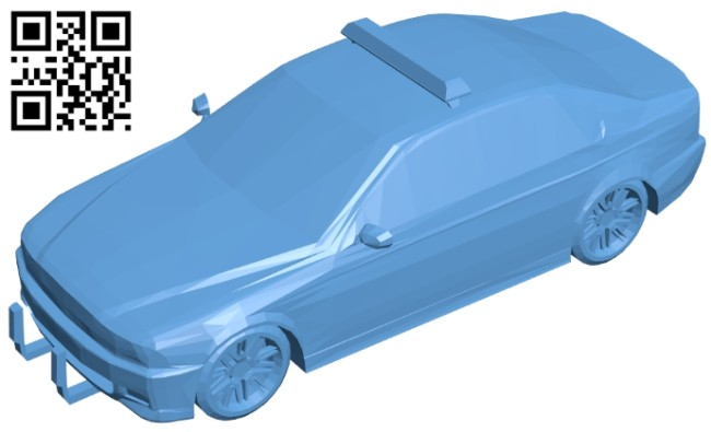 Car M5 police B008719 file obj free download 3D Model for CNC and 3d printer