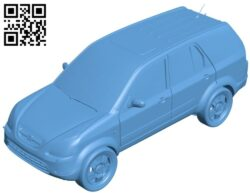 Car honda B008903 file obj free download 3D Model for CNC and 3d printer