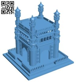 Charminar – house B008623 file stl free download 3D Model for CNC and 3d printer