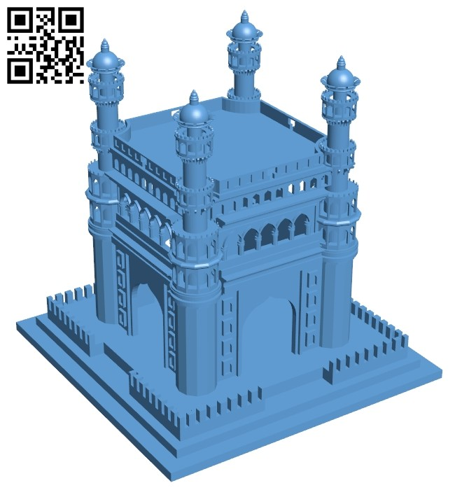 Charminar - house B008623 file stl free download 3D Model for CNC and 3d printer