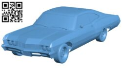 Chevy Impala car B008747 file obj free download 3D Model for CNC and 3d printer