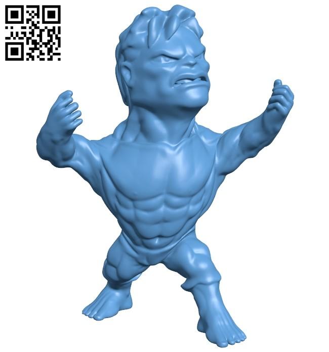 Chibi hulk - wiesner superhero B008785 file obj free download 3D Model for CNC and 3d printer