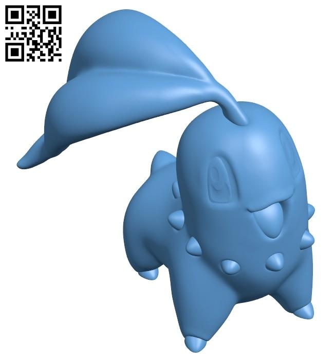 Chikorita - Pokemon B008763 file obj free download 3D Model for CNC and 3d printer