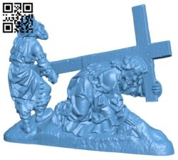 Christ Falls Beneath the Cross B008756 file obj free download 3D Model for CNC and 3d printer