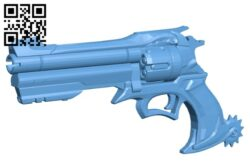 Cowboy gun B008715 file obj free download 3D Model for CNC and 3d printer