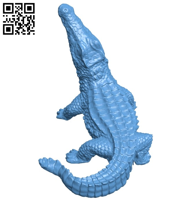 Crocodile B008773 file obj free download 3D Model for CNC and 3d printer