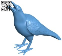 Crow B008764 file obj free download 3D Model for CNC and 3d printer