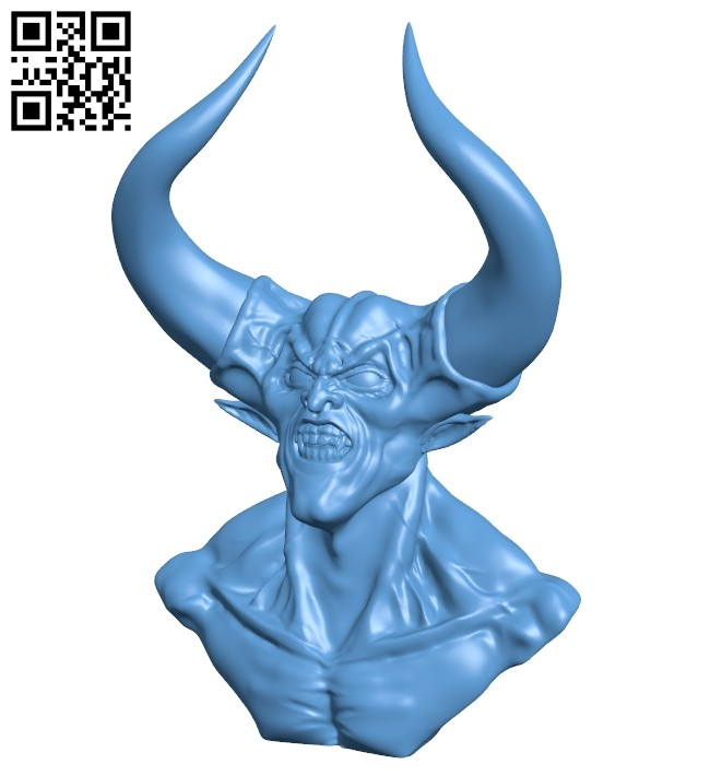 Darkness bust B008769 file obj free download 3D Model for CNC and 3d printer