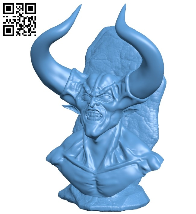 Darkness bust B008792 file obj free download 3D Model for CNC and 3d printer
