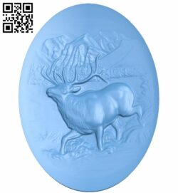 Deer painting A005828 download free stl files 3d model for CNC wood carving