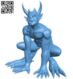 Devil B008858 file obj free download 3D Model for CNC and 3d printer