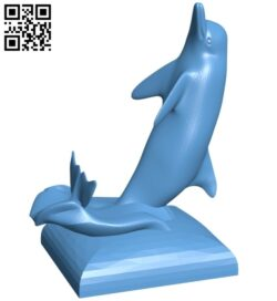 Dolphin phone stand B008891 file obj free download 3D Model for CNC and 3d printer
