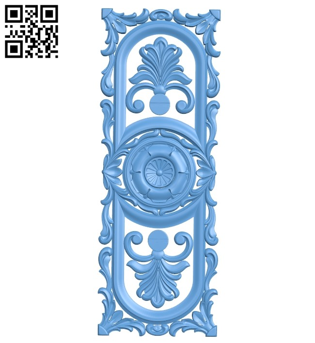 Door pattern A005685 download free stl files 3d model for CNC wood carving
