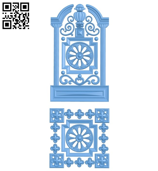 Door pattern A005792 download free stl files 3d model for CNC wood carving