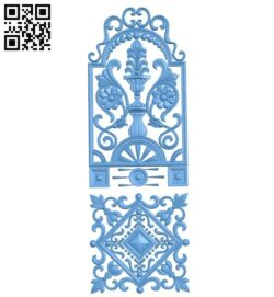 Door pattern A005793 download free stl files 3d model for CNC wood carving