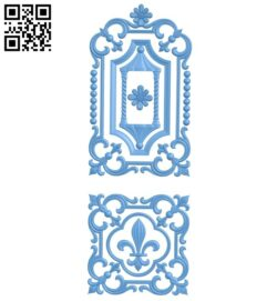 Door pattern A005794 download free stl files 3d model for CNC wood carving