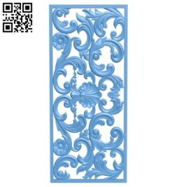 Door pattern A005795 download free stl files 3d model for CNC wood carving