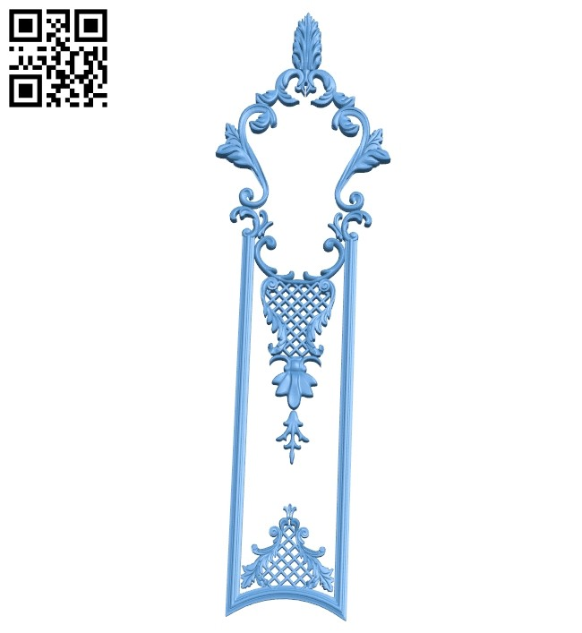 Door pattern A005798 download free stl files 3d model for CNC wood carving