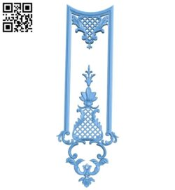 Door pattern A005799 download free stl files 3d model for CNC wood carving