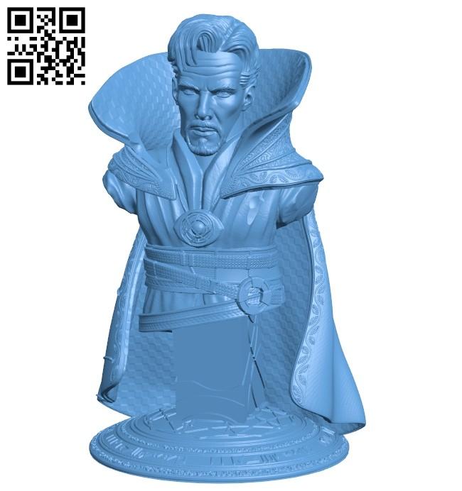 Dr strange bust B008787 file obj free download 3D Model for CNC and 3d printer