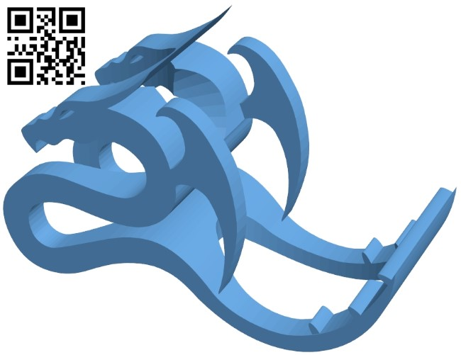 Dragon phone stand B008906 file obj free download 3D Model for CNC and 3d printer