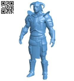 Dragonborn – man B008667 file stl free download 3D Model for CNC and 3d printer