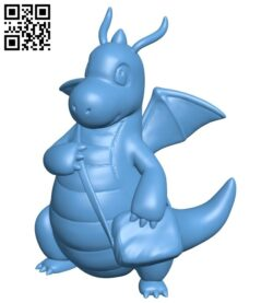Dragonite – pokemon B008844 file obj free download 3D Model for CNC and 3d printer