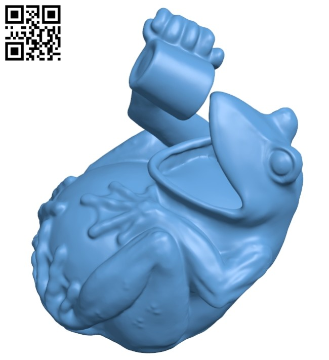 Drinking Frog B008714 file obj free download 3D Model for CNC and 3d printer