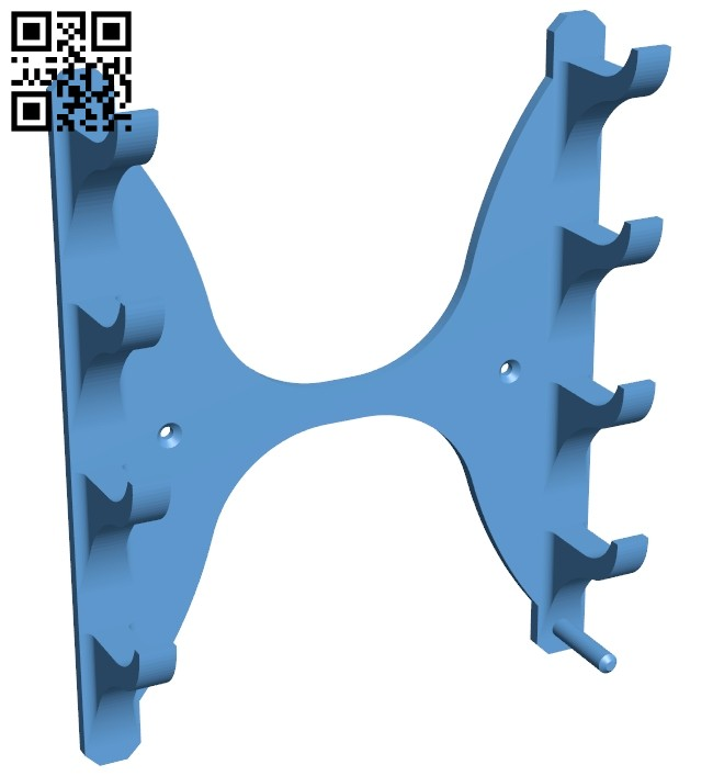 Drum stick wall holder B008828 file obj free download 3D Model for CNC and 3d printer