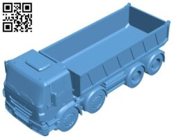 Dump truck iveco B008725 file obj free download 3D Model for CNC and 3d printer