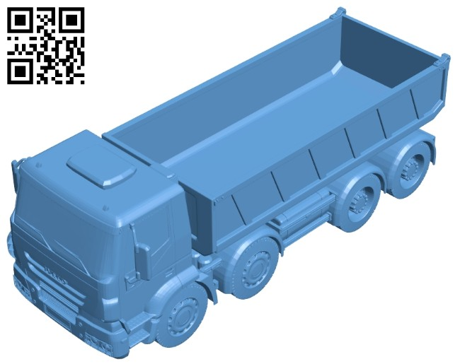 Dump truck iveco B008725 file obj free download 3D Model for CNC and 3d printer
