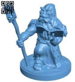 Dwarf fight mage B008826 file obj free download 3D Model for CNC and 3d printer