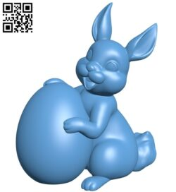 Easter bunny B008865 file obj free download 3D Model for CNC and 3d printer