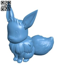 Eevee – Pokemon B008738 file obj free download 3D Model for CNC and 3d printer