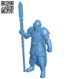 Elite Guard B008897 file obj free download 3D Model for CNC and 3d printer