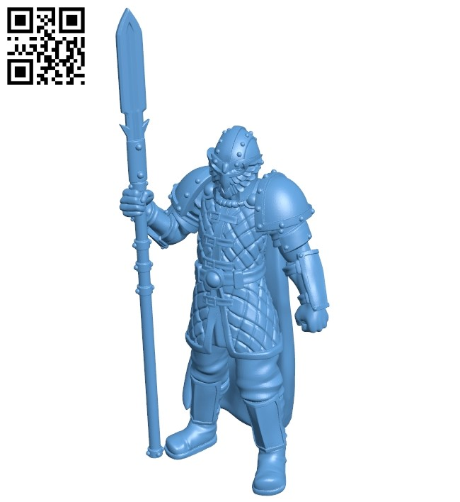Elite Guard B008897 file obj free download 3D Model for CNC and 3d printer